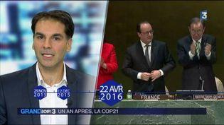 L'accord de Paris salué à l'ONU (FRANCE 3)