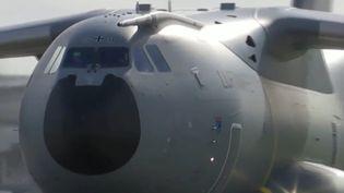 Avion de l'armée allemande. (Capture d'écran franceinfo)