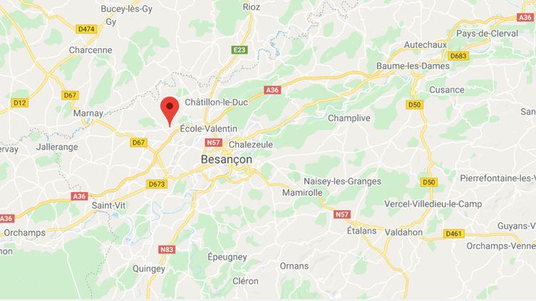 Pelousey (Doubs). (CAPTURE D'ÉCRAN)