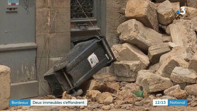 Gironde : deux immeubles se sont effondrés à Bordeaux, trois personnes ont été blessées