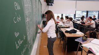 Des étudiants dans un lycée français à l'étranger. (EMILE WAMSTEKER / MAXPPP)