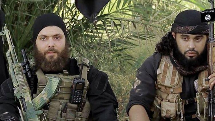 Des combattants de Daech dans une vidéo de propagande diffusée en août 2015. (AFP/Capture d'écran d'une vidéo de propagande)