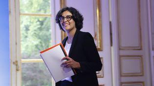 La ministre du Travail, Myriam El Khomri, à Matignon (Paris), le 30 mai 2016. (FRANCOIS GUILLOT / AFP)