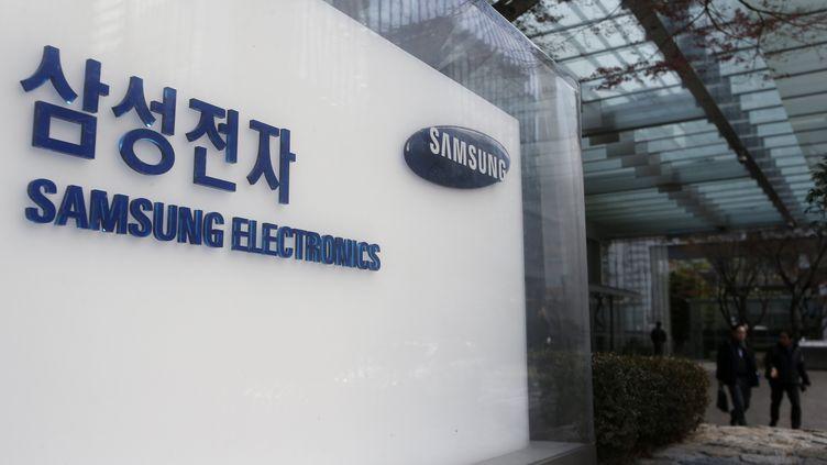 Une vue extérieure du siège de Samsung Electronics à Séoul, en Corée du Sud, le 9 janvier 2018. (KIM HEE-CHUL / EPA)