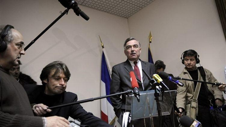 Le procureur de la République de Paris, le 14 novembre lors d'une conférence de presse (AFP PHOTO STEPHANE DE SAKUTIN)
