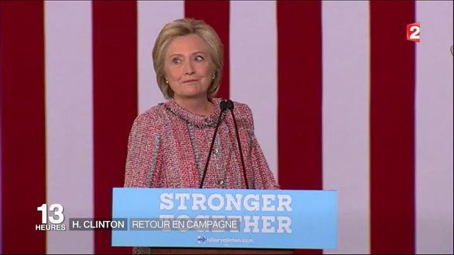 Présidentielle américaine : Hillary Clinton de retour en campagne