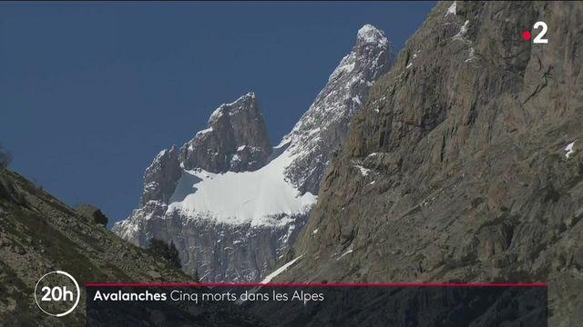 Alpes : cinq personnes mortes dans des avalanches