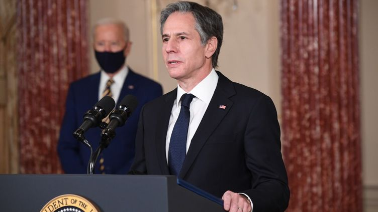 Le secrétaire d'Etat américain,Antony Blinken, le 4 février 2021, à Washington DC. (SAUL LOEB / AFP)