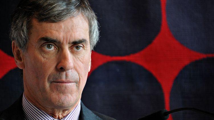 Jérôme Cahuzac, ministre délégué chargé du Budget, lors d'une conférence de presse à Paris, le 20 novembre 2012. (CITIZENSIDE.COM / AFP)