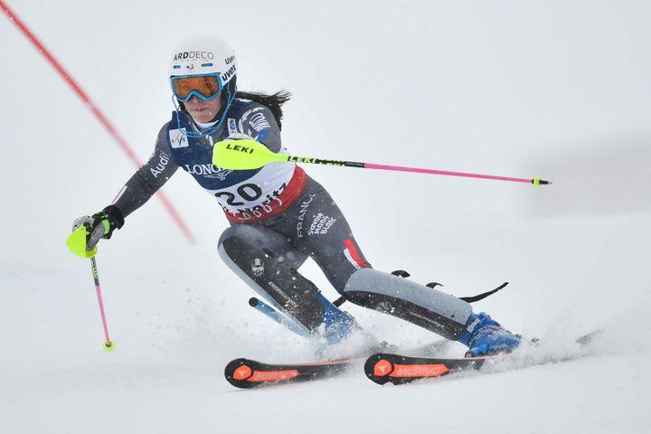 Avec sa 13e place finale, Romane Miradoli réussit l'un de ses meilleurs résultats de l'hiver en Coupe du Monde lors de ce combiné de Crans-Montana (Suisse).