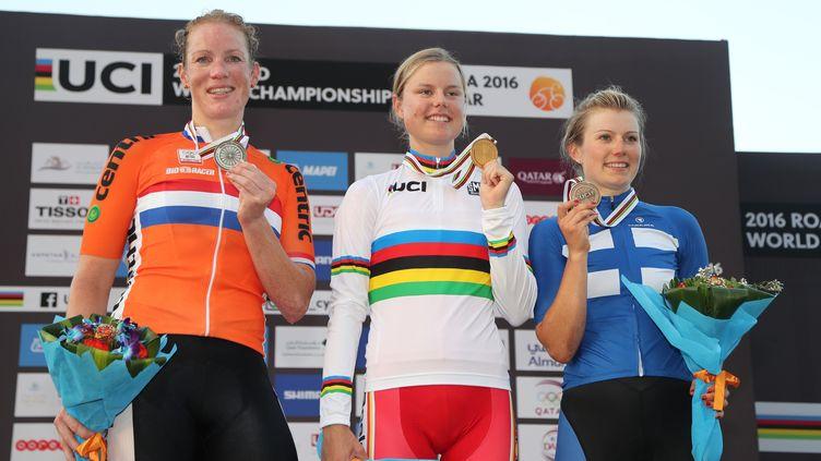 Amalie Dideriksen Championne du monde à Doha ! (KARIM JAAFAR / AFP)