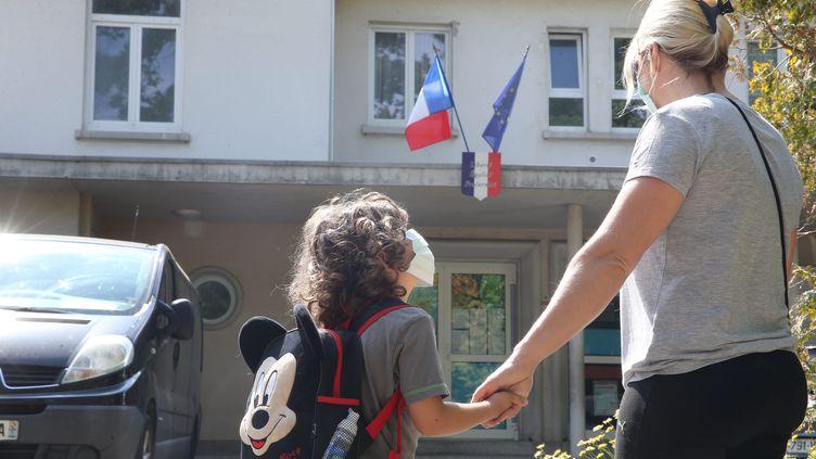AMontereau (Seine-et-Marne), seuls les enfants des personnes devant aller travailler pourront être accueillis dans les établissements scolaires.        (JEAN-FRAN?OIS FREY / MAXPPP)