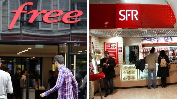 """Free dénonçait """"le crédit à la consommation déguisé"""" que constituait, selon lui, le fait pour SFR de subventionner des téléphones mobiles. (JACQUES DEMARTHON / AFP)"""