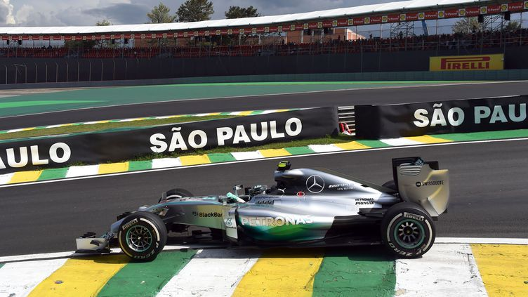 Nico Rosberg avait déjà signé le meilleur temps vendredi matin (NELSON ALMEIDA / AFP)