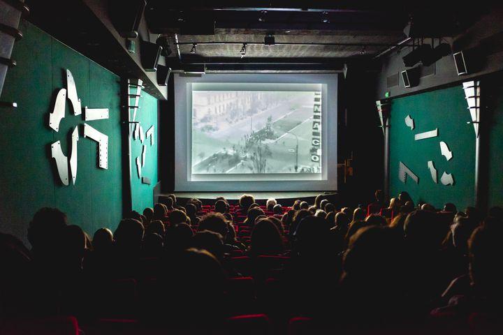 La salle de La Clef, dernier cinéma associatif de Paris. (UGO PADOVANI / HANS LUCAS)