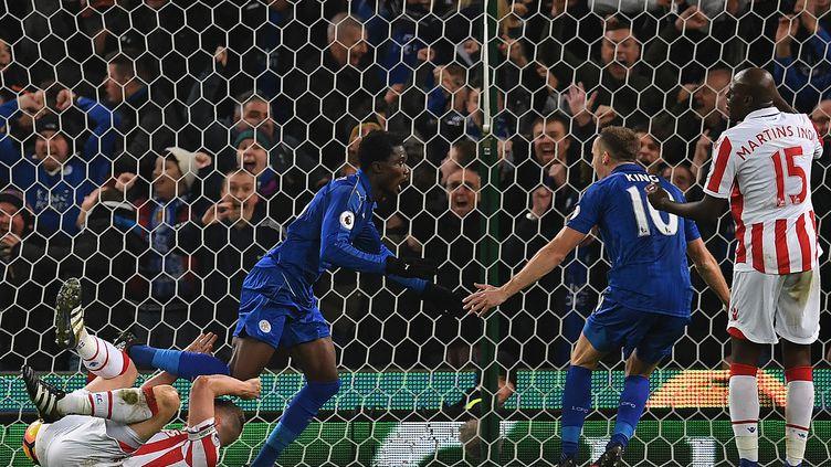 Daniel Amartey a offert le nul à Leicester dans les dernières secondes (PAUL ELLIS / AFP)