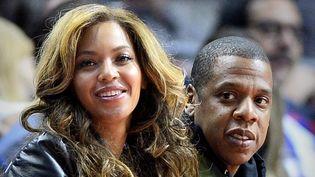Beyoncé et Jay Z le 22 janvier 2015 à Los Angeles, à un match de basket-ball  (Paul Buck / Epa / Newscom / MaxPPP)