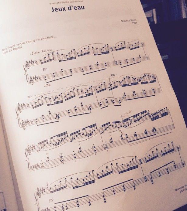 """La partition de """"Jeux d'eau"""" de Ravel.  (B. C. )"""