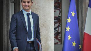 Le ministre de l'Action et des Comptes publics, Gérald Darmanin, quitte le palais de l'Elysée à Paris, le 31 août 2018. (STEPHANE DE SAKUTIN / AFP)