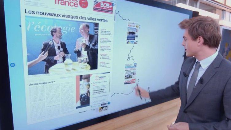 Élections municipales, Fessenheim, François Fillon : la revue de presse de France Télévisions (CAPTURE ECRAN FRANCE 2)
