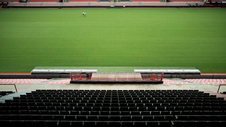 Le stade Ernest Wallon à Toulouse (Haute-Garonne), le 3 juin 2020. (LIONEL BONAVENTURE / AFP)