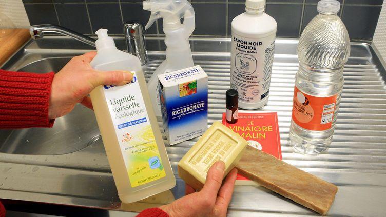 Le savon de Marseille et le vinaigre blanc sont des produits ménagers bons pour l'environnement. (THIERRY GACHON / MAXPPP)