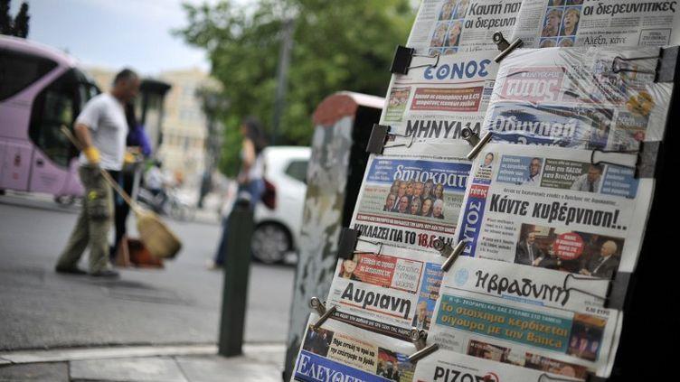 Le nouveau Parlement grec, issu des urnes dimanche 6 mai, ne présente pas de majorité évidente. (LOUISA GOULIAMAKI / AFP)