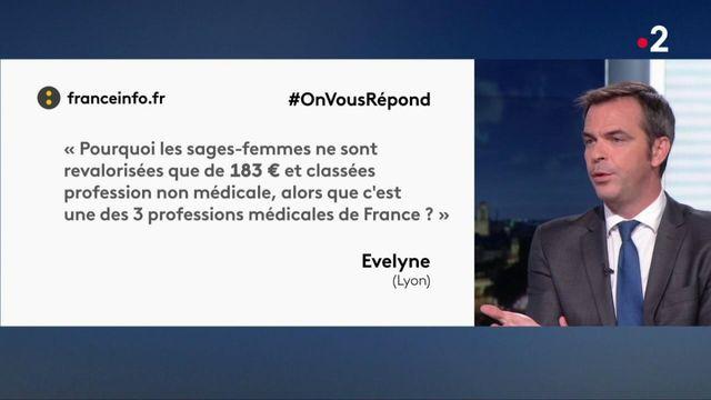 #OnVousRépond : Olivier Véran évoque le sort des sages-femmes
