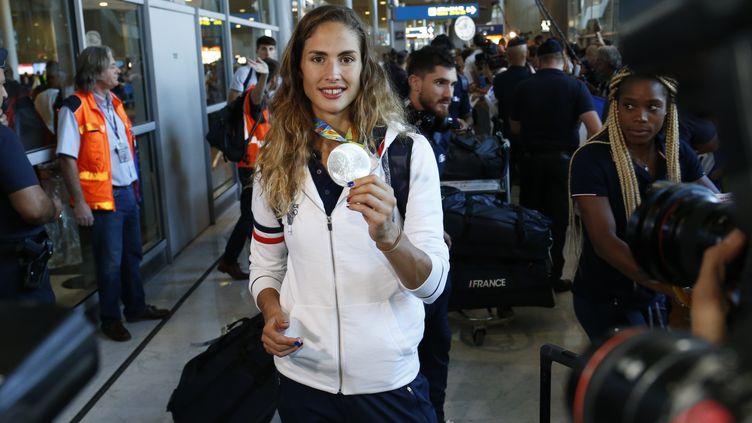 La vice-championne olympique du pentathlon Elodie Clouvel (MATTHIEU ALEXANDRE / AFP)