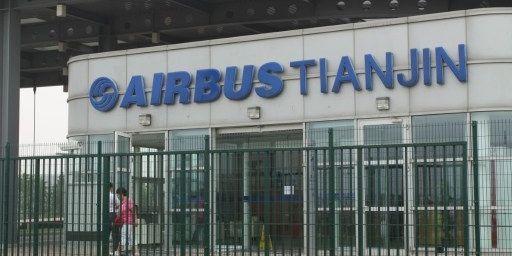 Usine de montage Airbus en Chine. (Sun xinming / Imaginechina)