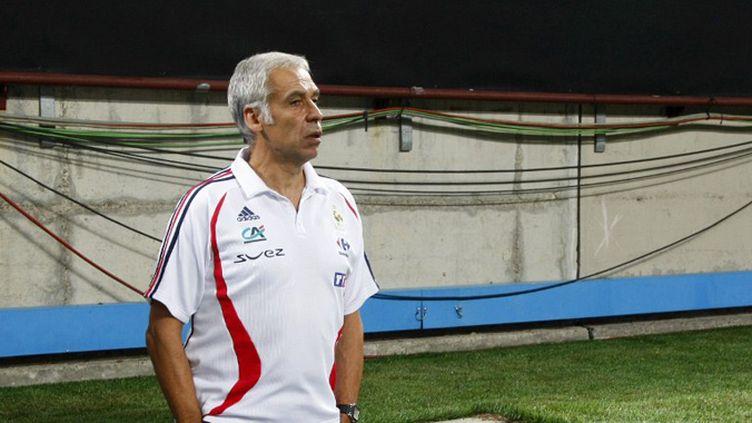 Pierre Mankowski, l'entraîneur de l'équipe de France Espoirs (DAMIEN MEYER / AFP)