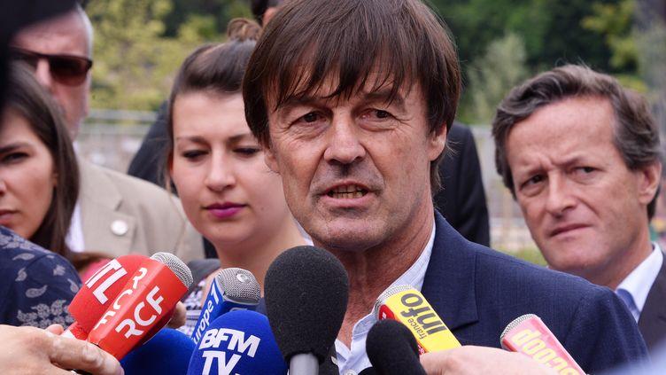 Le ministre de la Transition écologique et solidaire, Nicolas Hulot, a connu un premier désaccord avec Stéphane Travert, ministre de l'Agriculture, sur l'interdiction des néonicotinoïdes. (PHOTO RICHARD MOUILLAUD / MAXPPP)