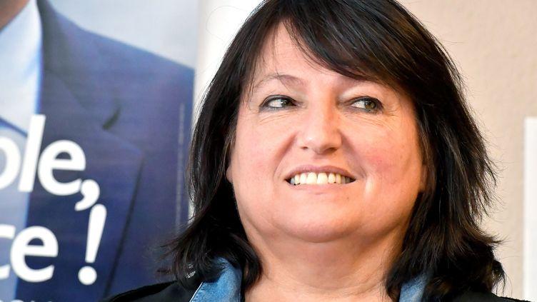 Sophie Mette, candidate investie par La République en marchedans la 9e circonscription de la Gironde, le 11 mai 2017 à Bordeaux. (GEORGES GOBET / AFP)