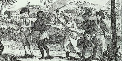 """""""Le cruel traitement des esclaves aux Antilles"""", gravure datant de 1773 (AFP - The Art Archive)"""