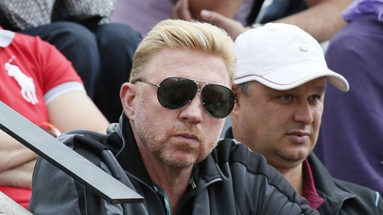 """L'ancienne légende du tennis mondial Boris """"Boum Boum"""" Becker (PATRICK KOVARIK / AFP)"""