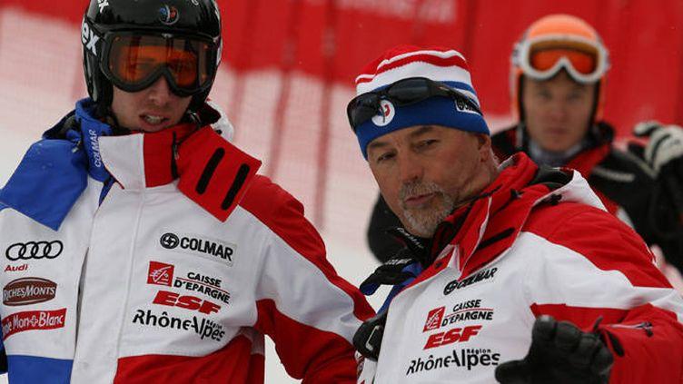 Gilles Brenier (à droite), directeur des équipes de France hommes