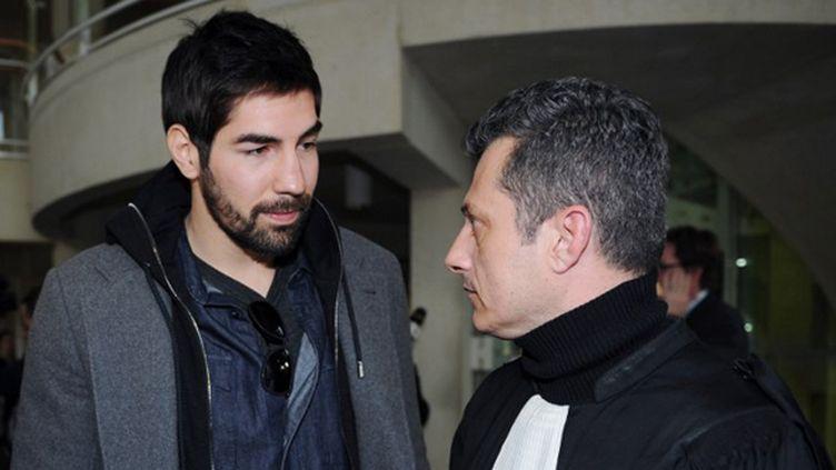 Nikola Karabatic à la sortie du tribunal  (SYLVAIN THOMAS / AFP)