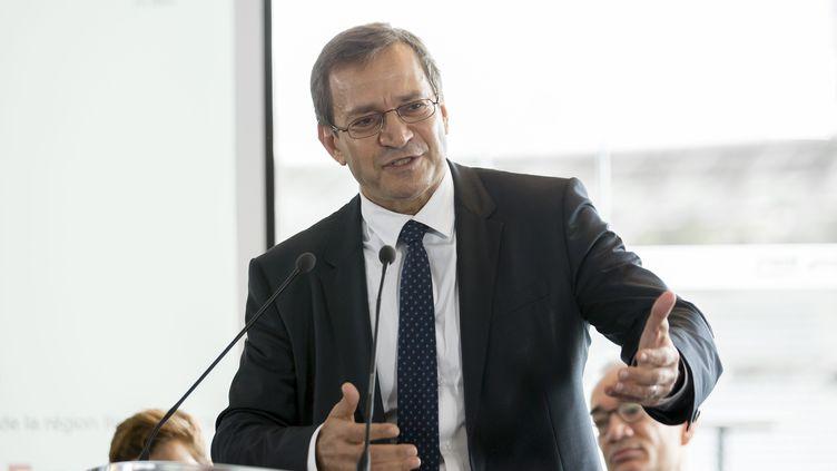 Patrick Karam, vice-président (LR) démissionaire du conseil régional d'Île-de-France, à Paris, le 2 octobre 2017. (LEON TANGUY / MAXPPP)