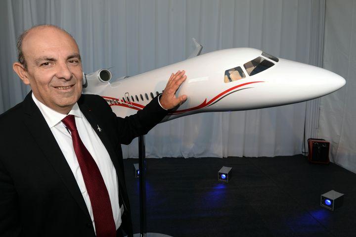 Le PDG de Dassault Aviation, Eric Trappier, le 16 octobre 2015 à Mérignac (Gironde). (MEHDI FEDOUACH / AFP)