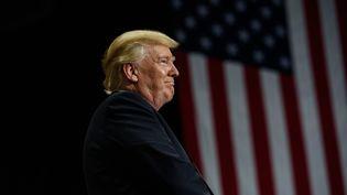 Le président des Etats-Unis Donald Trump lors d'un meeting à Youngstown, dans l'Ohio (Etats-Unis), le 25 juillet 2017. (JUSTIN MERRIMAN / AFP)