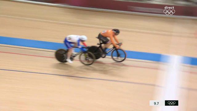Totalement impuissant face au surpuissant Néerlandais Jeffrey Hoogland lors des deux manches, Sébastien Vigier est sorti en quart de finale du sprint.