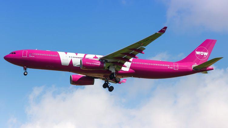 Un avion de la compagnie WOW Air, en août 2018. (MARKUS MAINKA / PICTURE ALLIANCE / AFP)