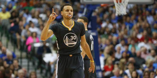 Le joueur des Warriors, Stephen Curry