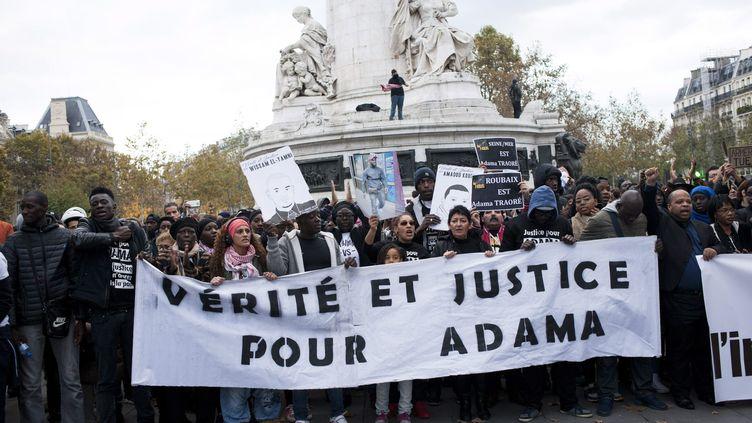 La mobilisation autour de l'affaire Adama Traoré ne faiblit pas depuis la mort du jeune homme, le 19 juillet 2016 (JEREMIE JUNG / MAXPPP)