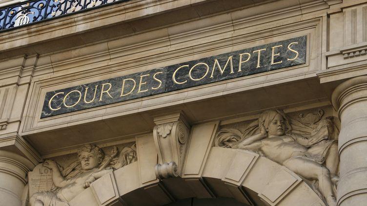 Le fronton de la Cour des comptes, à Paris (CATHERINE GRAIN / COMMUNICATION)