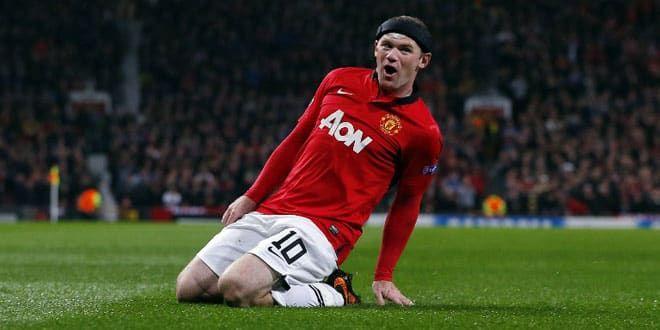 Wayne Rooney, l'attaquant anglais de Mancheter United