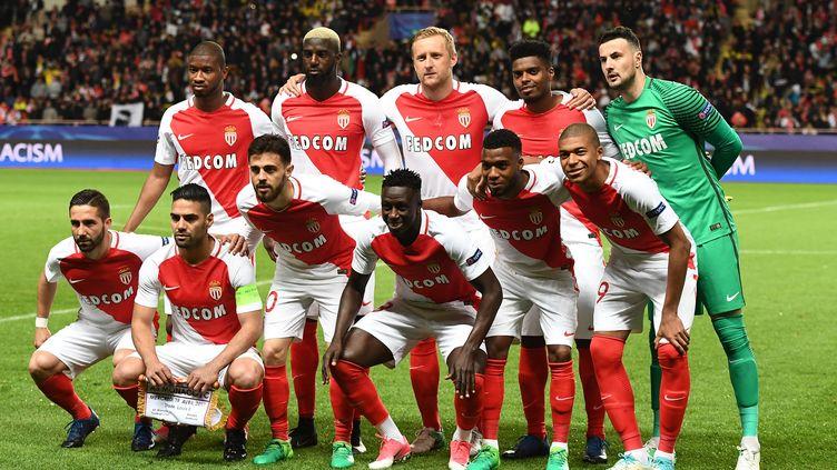 Les joueurs de l'AS Monaco (BORIS HORVAT / AFP)