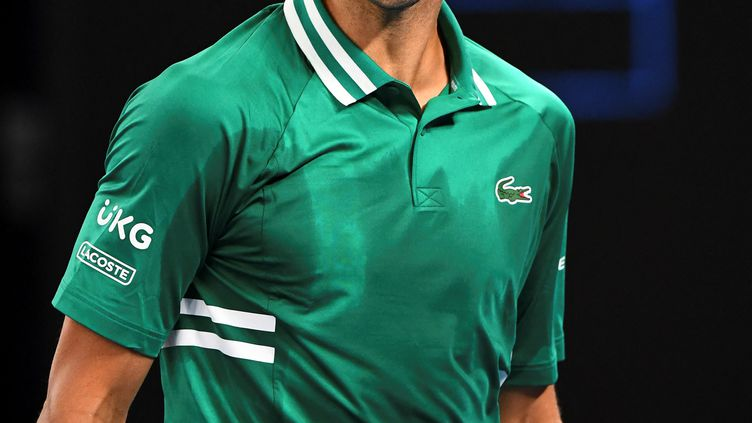 La rage du Serbe Novak Djokovic, le 12 février 2021 en Australie (WILLIAM WEST / AFP)