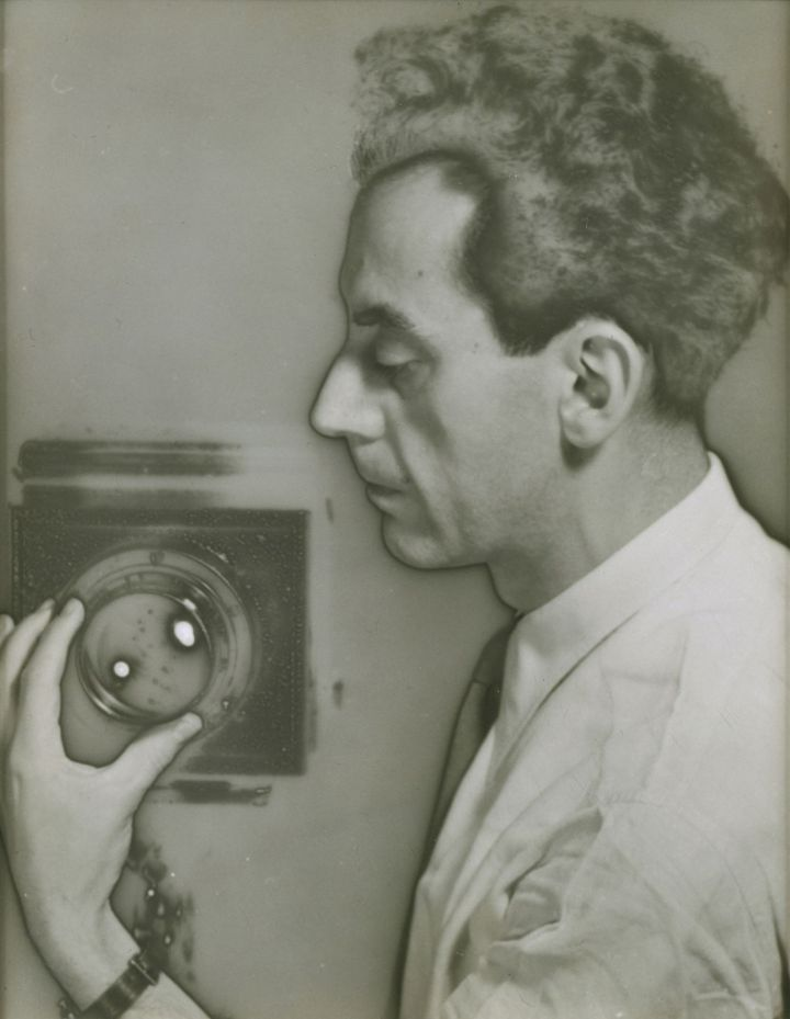 Man Ray Self-Portrait with Camera, 1932 by Man Ray The Jewish Museum, New York, Purchase: Photography Acquisitions Committee Fund, Horace W. Goldsmith Fund, and Judith and Jack Stern Gift, 2004-16.  (Photo by Richard Goodbody, Inc © 2008 Man Ray Trust / Artists Rights Society (ARS), NY / ADAGP, Paris 2012 © Photo The Jewish Museum)