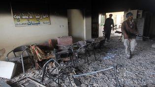 L'école du village de Sharween, en Irak, a été entièrement détruite, en janvier 2015. (AHMAD AL-RUBAYE / AFP)